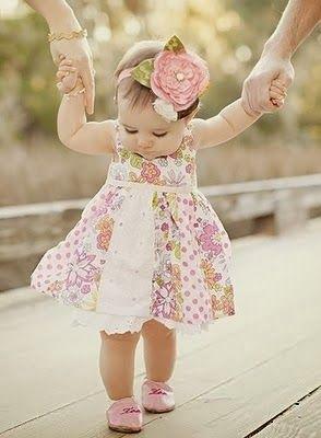 Aprender a caminar un bebé