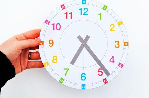 Aprender a leer la hora para niños