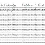 Fichas de caligrafa para aprender a escribir  Lminas