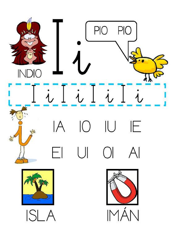 Fichas para aprender a leer las vocales | Fichas para imprimir