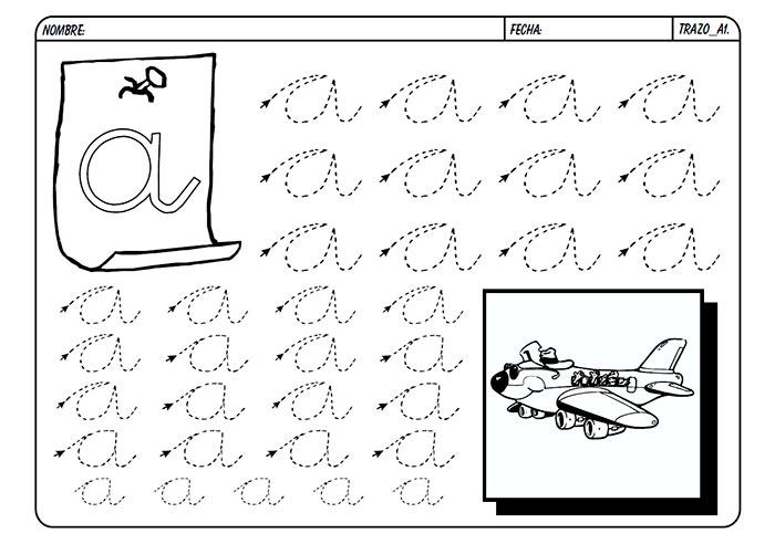 Fichas para aprender a escribir el abecedario | Láminas