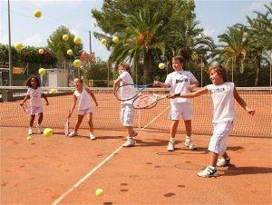 Ejercicios de iniciación al tenis para niños