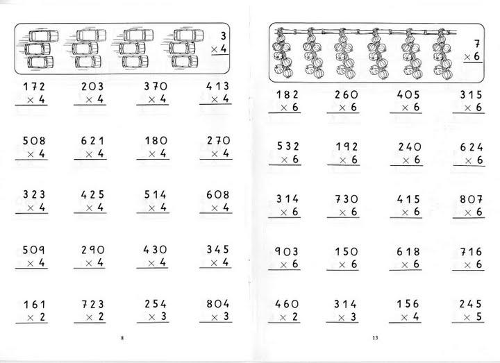 Fichas para aprender a multiplicar  Fichas para imprimir